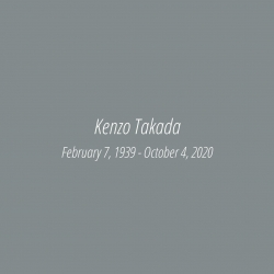 We will always remember you 🤍  The designer spirit keep living through K三 by Kenzo Takada creations  #kenzotakada