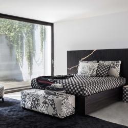 A strong and elegant design in dark tones. An original atmosphere for your room by Shogun.  #kenzotakada #k3 #furniture #furnituredesign #designshowroom #design #interiordesign #luxury #style #stylishinteriors