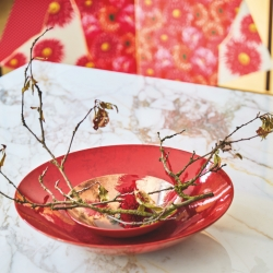 With delicate curves and a bold colour palette, the AKA Centerpiece is both eye-catching and a soothing addition to any interior.